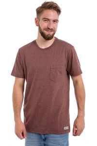 Element Basic CR Pocket T-Shirt (oxblood red heather)
