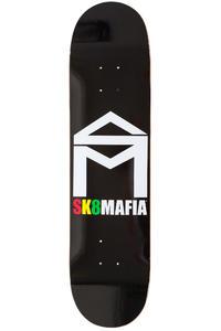 "Sk8Mafia House Logo 7.75"" Deck (black rasta)"
