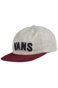 Vans Tag Unstructured Strapback Cap (heather grey port royale)