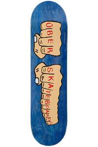 """Über Skateboards Knuckleduster 8"""" Deck (blue)"""