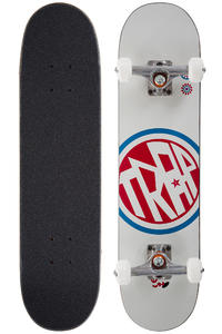 "Trap Skateboards Circle Logo 7.25"" Complete-Board (white)"