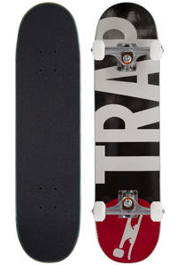 "Trap Skateboards Big Logo 7.25"" Complete-Board (black)"