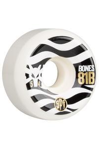 Bones Eighty Ones 54mm Rollen (white) 4er Pack