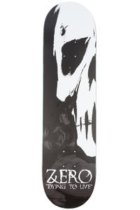 "Zero Team Dying To Live Skull 8"" Deck (black white)"