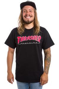 Thrasher Outlined T-Shirt (black)