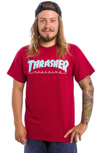 Thrasher Outlined T-Shirt (cardinal)