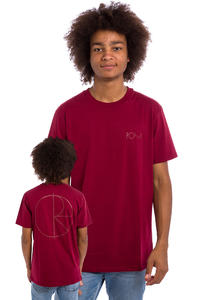 Polar Skateboards Stroke Logo T-Shirt (burgundy)