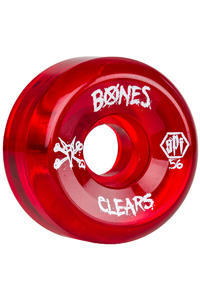 Bones SPF Clears 56mm Rollen (clear red) 4er Pack