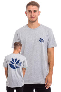 Magenta Plant T-Shirt (heather grey blue)