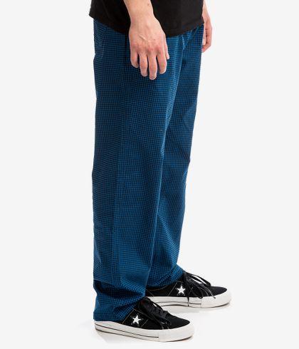 Brixton Steady Elastic Wb Pantalones Royal Blue Gingham Comprar En Skatedeluxe