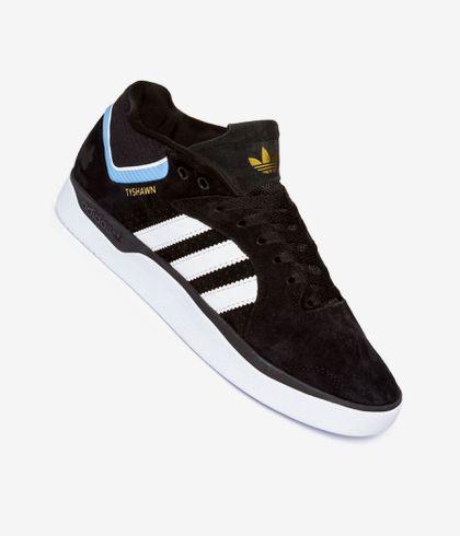 fiesta agitación Abundancia  adidas Skateboarding Tyshawn Shoes (core black white light blue) buy at  skatedeluxe