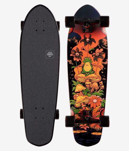 "Globe Big Blazer Red Toadstool 9.125/"" 32/"" Complete Cruiser Skateboard"