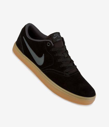 eficiencia Garganta vistazo  Nike SB Check Solarsoft Shoes (black anthracite gum light brown) buy at  skatedeluxe