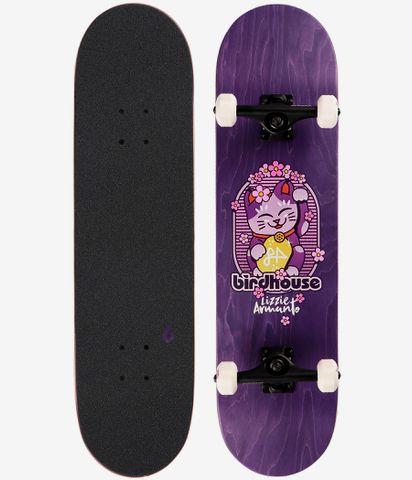 "Birdhouse Stage 3 armanto Maneki Neko Complete Skateboard-Violet 8/"""